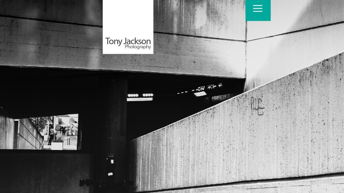 Design for London Photographer, Tony Jackson