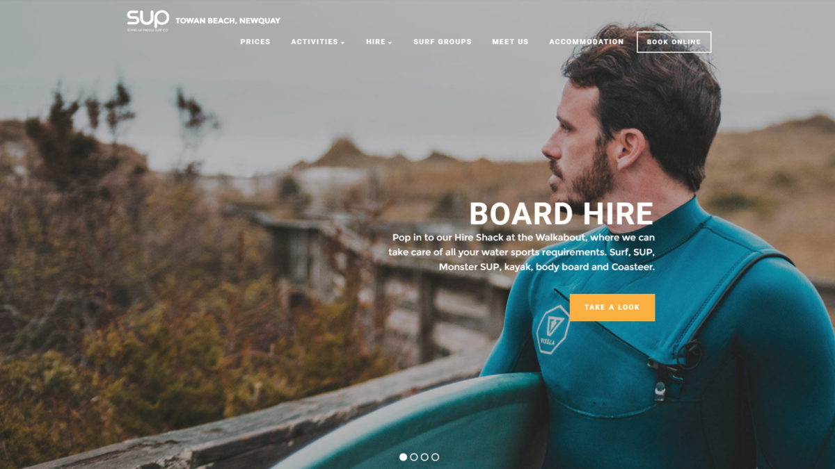 Spacial, Graphic & Web Design for Surf Co. in Newquay