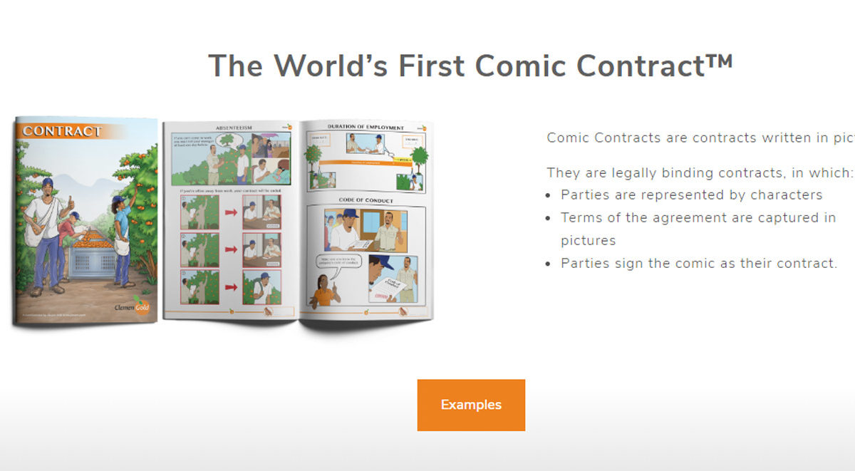 The World's First Comic Contract™