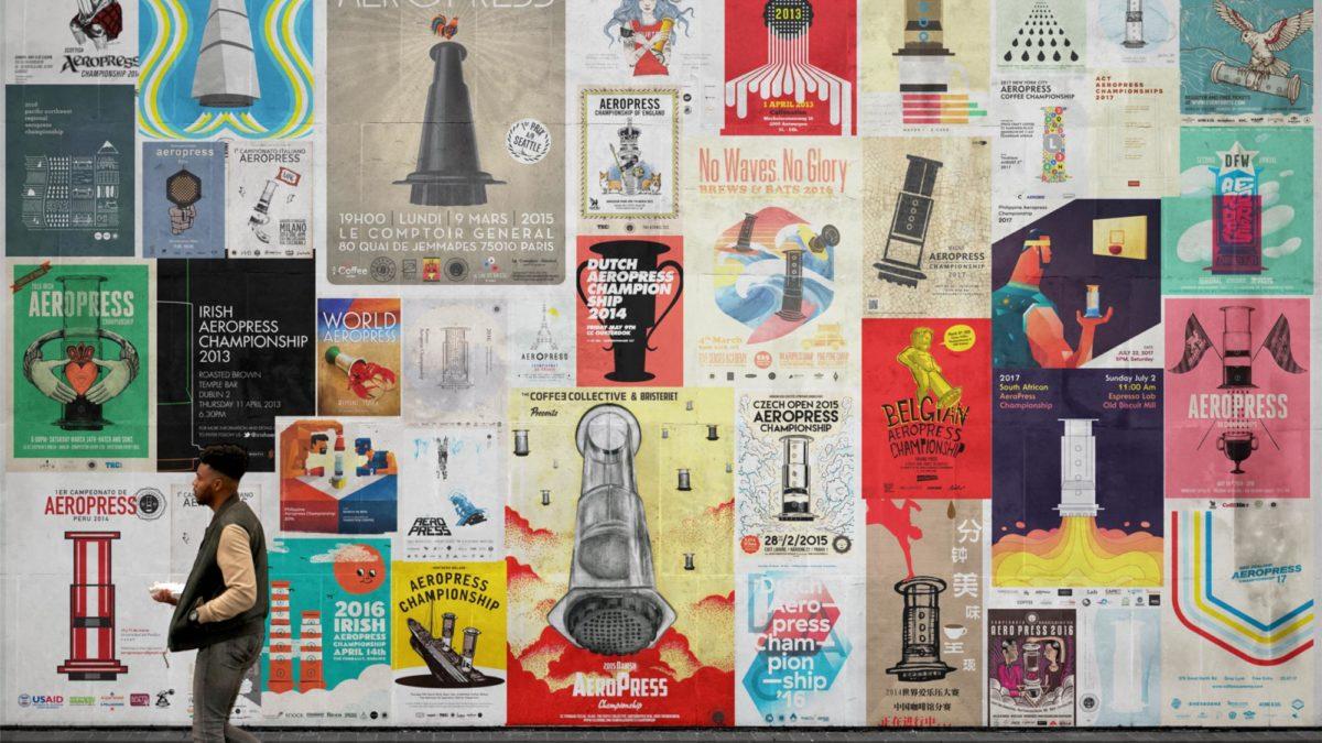 AeroPress Championship Posters, The Artform Wall