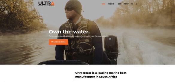 website design for boat manufacturer